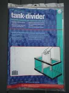 "1 Penn-Plax Tank Divider Ex. large 11 3/8"" x 15.5""! Fits 20 Gallon Free Shipping"