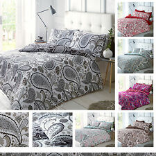 New Paisley Luxurious Duvet Covers Quilt Cover Reversible Bedding Sets All Sizes
