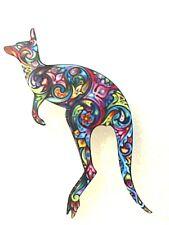 Kangaroo Large Multicolor Acrylic Pin Brooch Jewelry