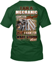 Premium Sarcastic Mechanic - I Am A Can't Fix Stupid But Can Premium Tee T-Shirt