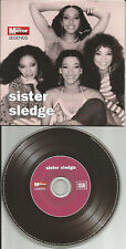 SISTER SLEDGE BEST of 10TRX Europe LIMITED NEWSPAPER PROMO CD USA seller 2007