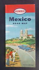 1952 Mexico  road  map Humble  oil  gas Ciudad Victoria