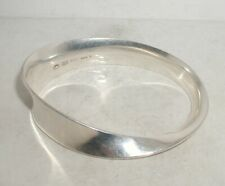 """GEORG JENSEN TORUN Sterling Silver Mobius Bangle"" No. 206"
