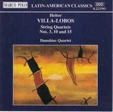 Heitor Villa-Lobos - String quartets Nos. 3,10 & 15 (Danubius Quartet) CD