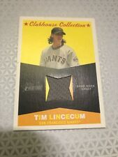 Tim Lincecum Jersey Patch Topps Heritage 2009