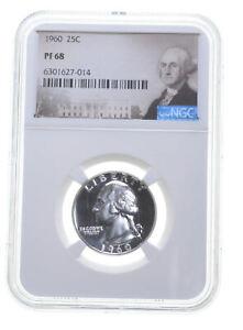 1960 PF68 Proof Washington Quarter NGC Graded - White Coin Spot Free PR *0283