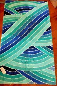 "Abyss Habidecor Rainbow Bath Rug COLOR: Blue 27"" x 47"" ~ Made in Portugal ~LAST!"