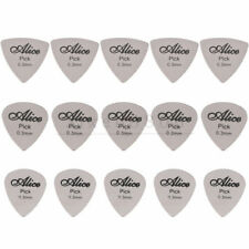 15PCS Alice Guitar Picks Stainless Steel Metal Plectrums 0.3mm Thickness