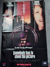 SOMEBODY HAS TO SHOOT THE PICTURE (VIDEO DEALER 40 X 27 POSTER, 1990S) SCHEIDER