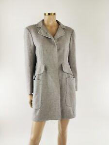 Jil Sander Grey 100% Cashmere Coat - UK 12