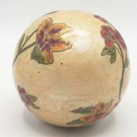 Vintage Brass Enamel Decorative Ball