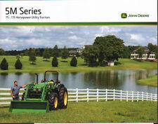 """John Deere """"5M Series"""" 75 - 115hp Utility Tractor Brochure Leaflet"""