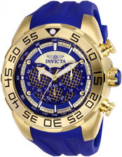 Invicta Men's Speedway Chrono 100m Stainless Steel/Blue Silicone Watch 26302