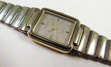 Lassale by Seiko Two-Tone Black & Gold Metal 1231-0030 Sample Watch NON-WORKING