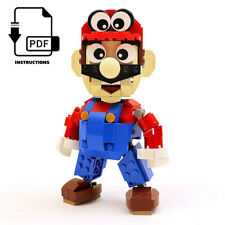 Instructions, Parts List Only for Custom LEGO Nintendo Mario Odyssey Figure