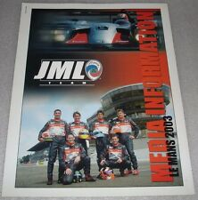 Le MANS 2003 DU MANS la carità-JML Team Panoz LMP1 PRESS KIT media GUIDE pressmappe