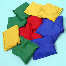 Set of 12 Bean Bags - Red, Green, Yellow and Blue - Sports/Juggling - Ref: 02250