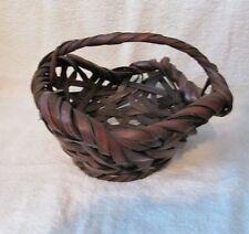 Antique Japanese IKEBANA Woven Bamboo Basket