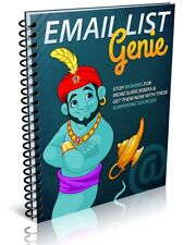 Email List Genie Pdf Ebook Master Resell Rights Free Shipping