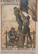 Subscribe to the National Loan. Vintage French WW1 Propaganda Poster