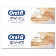 2 x Oral-B 3D White Toothpaste Whitening Therapy Coconut Oil Gentle Clean Paste
