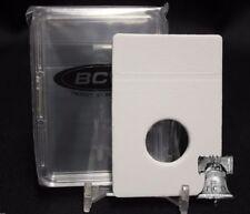 10 BCW Quarter 24.3mm Premium Display Slab Coin Storage Holder Case + INSERTS