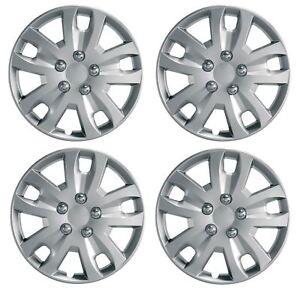 NISSAN PIXO 15 Hurricane Car Wheel Trims Hub Caps Plastic Covers Silver