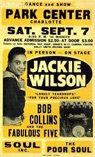 Vintage Jackie Wilson, Soul Music USA Charlotte Concert Poster Print