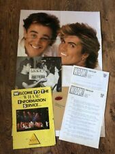❤️RARE AUTUMN FAN CLUB PACKAGE❤️Wham! Package-George Michael & Andrew Ridgeley
