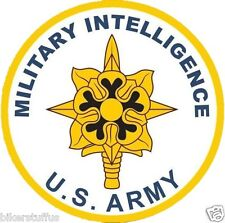 ARMY MILITARY INTELLIGENCE BUMPER STICKER TOOL BOX STICKER LAPTOP STICKER