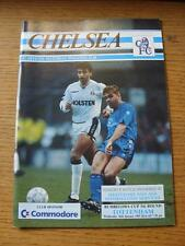 16/01/1991 Chelsea v Tottenham Hotspur [Football League Cup] . Item In very good