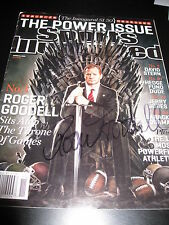 ROGER GOODELL SIGNED AUTOGRAPH SPORTS ILLUSTRATED MAGAZINE NFL DRAFT RARE COA D