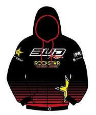 SWEAT CAPUCHE ZIP TEAM BUD RACING ROCKSTAR ENERGY 2012 ROUGE / XL