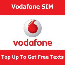 VODAFONE Pay As You Go SIM per IPHONE NOKIA SAMSUNG SONY TOP fino a ottenere testo libero