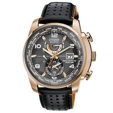 Citizen AT9013-03H Men's World Time A-T Eco-Drive Radio Controlled Watch Rose