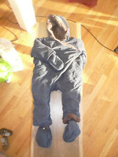 Snowsuit with feet and mittens. Premium FRENCH designer - Serjent Major. EUC