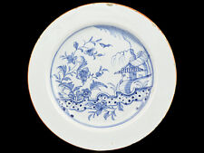 c1750 English Blue and White Delft Chinese Style Plate