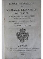 Eloge Historique de Madame Elisabeth de France suivi de Lettres 1814