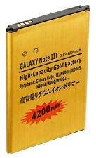Gold Extended High Capacity Battery For Samsung Galaxy Note 3  4200 mAh