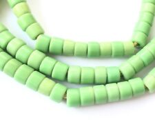 Antique Czech Matched Apple Green Prosser Glass- Spacers African Trade Beads