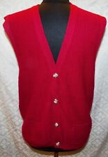 Haband Mens Vtg Sweater Vest Red M Acrylic