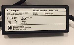 Kodak 24 Volt 1.8A MPA-7601 Accessory OEM AC Wall Charger Power Adapter