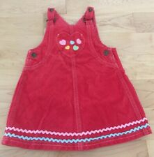 Gymboree Girls Red Overall Dress US size 12/18 months VGUC pet/smoke free house