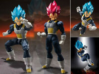 DBZ S.H.Figuarts Dragon Ball SHF Super Saiyan God Blue SSGSS Vegeta Figure Nobox