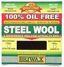 Briwax Steel Wool -  Oil Free Ensures a Consistent Degree of Abrasion 225g