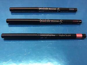 AVON Glimmerstick Eyeliners x3 Diamonds Twilight, Copper & Waterproof Pink BNWOB