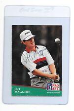 JEFF MAGGERT Signed 1991 PRO SET Golf Card #57 PGA TOUR Texas A&M University