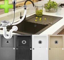 Granitspüle Küchenspüle Granit Siphon Einbauspüle Spülbecken Spüle Granit 76x45