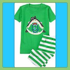NWT 12-18 Gymboree GYMMIES 2pc SLEEPwear Set SHARK PIRATES TEETH green PJ Pajama