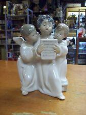 Lladro Three Singing Angels High Gloss Porcelain Figurine  #4542 Retired